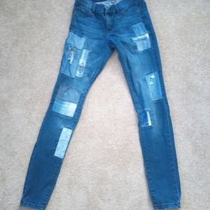 New York and company patched jeans